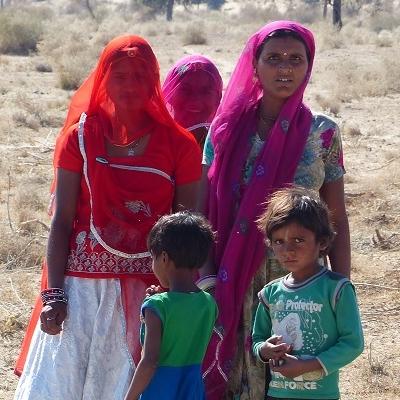 Femmes indiennes village siyana Rajasthan