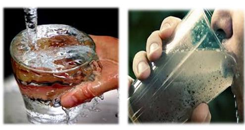 Boire de l'eau en Inde