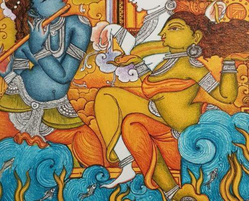 Tradition des fresques murales au Kerala